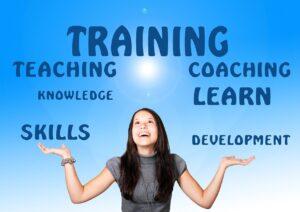 learn, training, woman